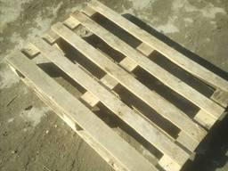 Поддоны деревянные облегченные (б/у, темные)