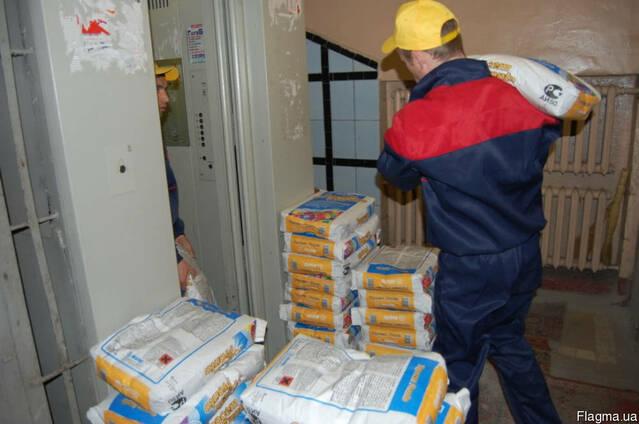 Подъем стройматериалов в Донецке, занос стройматериалов
