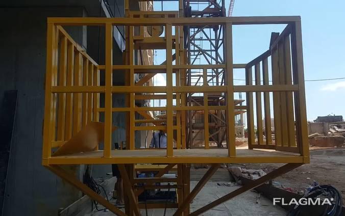 Подъемник строительный мачтовый цельносварной (Украина)