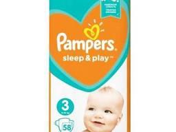 Подгузники Pampers Sleep&Play 3 (6-10 кг), 58 шт