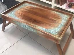 Поднос-столик дизайнерский со складными ножками