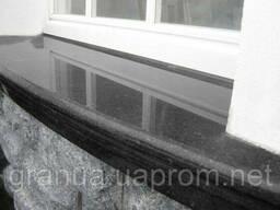 Подоконники и отливы из гранита (габбро) черные 100х30х3 см