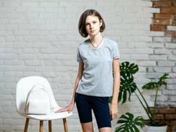 Однотонная футболка на подростка из турецкого трикотажа 2-5 лет