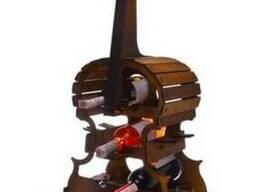 Подставка для бутылок и рюмкок Контрабас - Винная подставка
