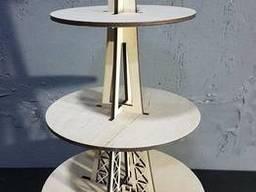 Подставка для капкейков Эйфелева башня (3 яруса)