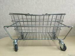 Подставки под корзинки металлическая на колесах