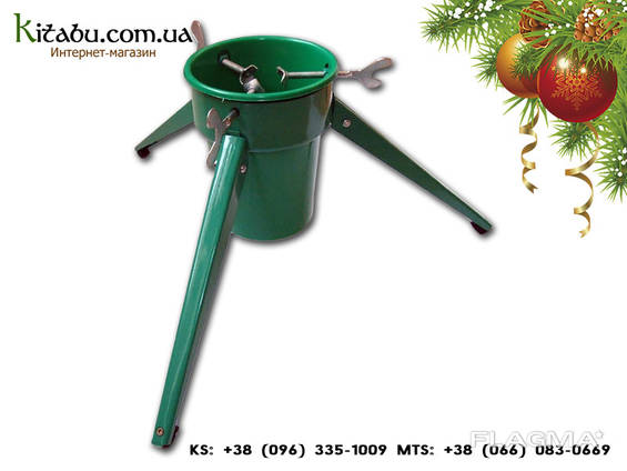 Подставка для ёлки с водой, для Новогодней ёлки. Зелёная