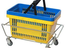 Подставка под корзинки на 4 колесах , оцинковка для корзинок