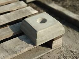 Подставки под балясины, бетонные подставки