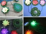 Подсветка для бассейна - плавающий лотос на солнечной энерги - фото 4