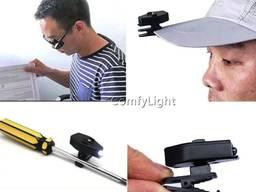 Подсветка светодиодная Led на очки фонарик клипса