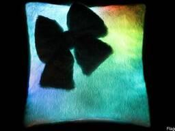 Подушка квадратная с бантиком, антистрессовые подушки