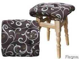 Подушка на стул с завязками 40х40 см (борт 3см)