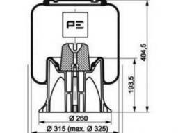 Подушка пневмоподвески 4159np09 Trackturc