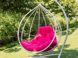 Подвесное кресло кокон Адель. Гамак. Качели шар садовая. Кресло качалка из металла