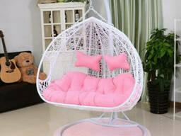 Садове Підвісне крісло кокон з ротанга плетенное для двох