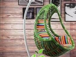 Подвесное кресло кокон Komfort зеленое