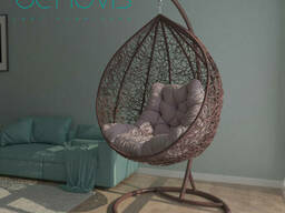 Подвесное круглое кресло с подушкой Шоколад