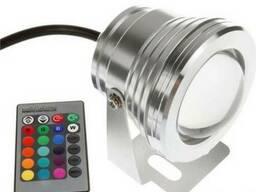 Подводный линзовый прожектор светильник LED RGB 10W 12V
