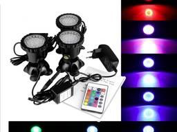 Подводный мультицветной прожектор светильник RGB 108 Led