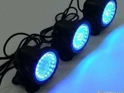 Подводный прожектор синий 36LED светодиодов для бассейна