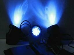 Подводный прожектор тройной на солнечной батарее 6 Ledx3 шт