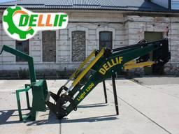 Погрузчик на МТЗ Dellif Light 1200 с крюком для биг бегов