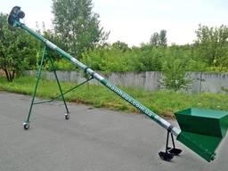 Погрузчик (транспортёр) зерна шнековый, передвижной ПШ-159