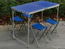 Походный раскладной столик Welfull-ZZ18007-blue для пикника