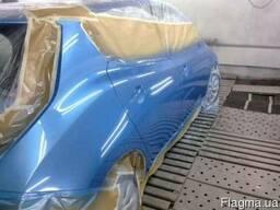 Покраска автомобиля в покрасочной камере. Ремонт бамперов