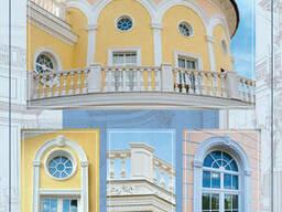 Покраска фасадов домов, коттеджей.