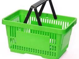 Покупательская корзина для супермаркета PLAST 22 салатовая