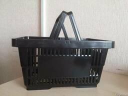 Покупательские корзины для супермаркета 22 литра black