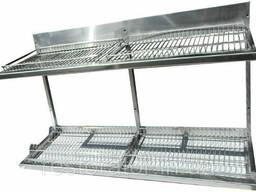 Полка-сущка для посуды из нержавеющей стали 1200х325х510