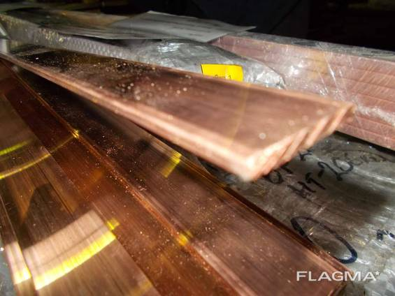 Шина, полоса медная 3х40х3000 мм М1 М2 (мягкая, твёрдая)