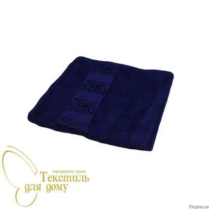 Полотенца махровые банные синий Мотиф