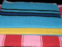 """Полотенце махровое (70х140), цветная полоса, """"баня"""" 100%х\б"""