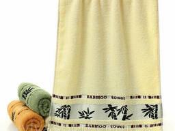 Полотенце махровое бамбуковое 140x70 см, белый