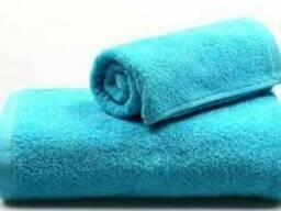 Полотенце махровое голубого цвета размер 70\140 (баня)