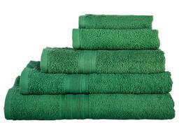 Полотенце махровое тёмно-зелёное 40х70см 420 гр/м2. Хлопок 100%. Цвет тёмно-зеленый. Опт.