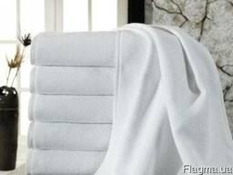 Полотенце отельное, белое, банное
