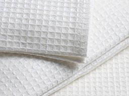 Полотенце вафельное белое