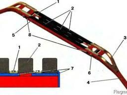 Полоз токоприемника (лыжа) центрального, бокового