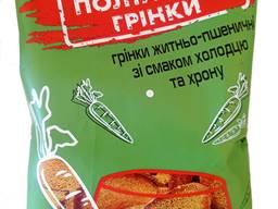"""""""ПОЛТАВСЬКІ ГРІНКИ"""" житньо-пшеничні зі смаком холодцю та хрону 100г"""