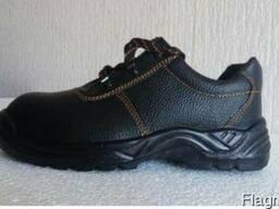 Полуботинки (туфли) рабочие демисезонные кожаные ПУ подошва