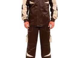 Полукомбинезон и куртка, хаки, рабочая одежда