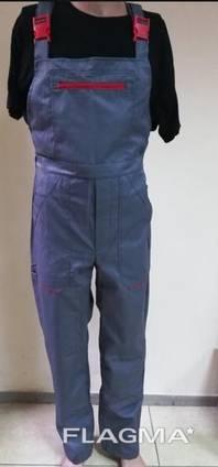 Полукомбинезон рабочий летний ткань грета ЧШК цвет серый