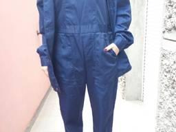 Полукомбинезон рабочий синий ткань саржа