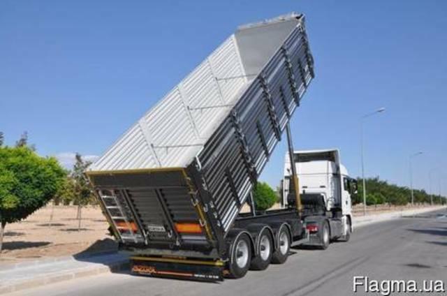 Полуприцеп-зерновоз самосвального типа 55 М3 Nursan trailer