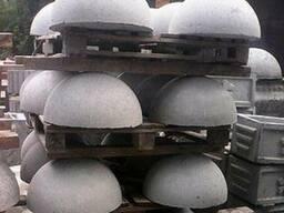 Полусфера бетонная 600*320 мм вес 120 кг